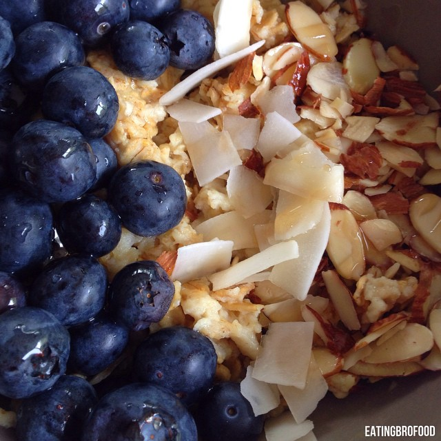 coconut blueberry oats