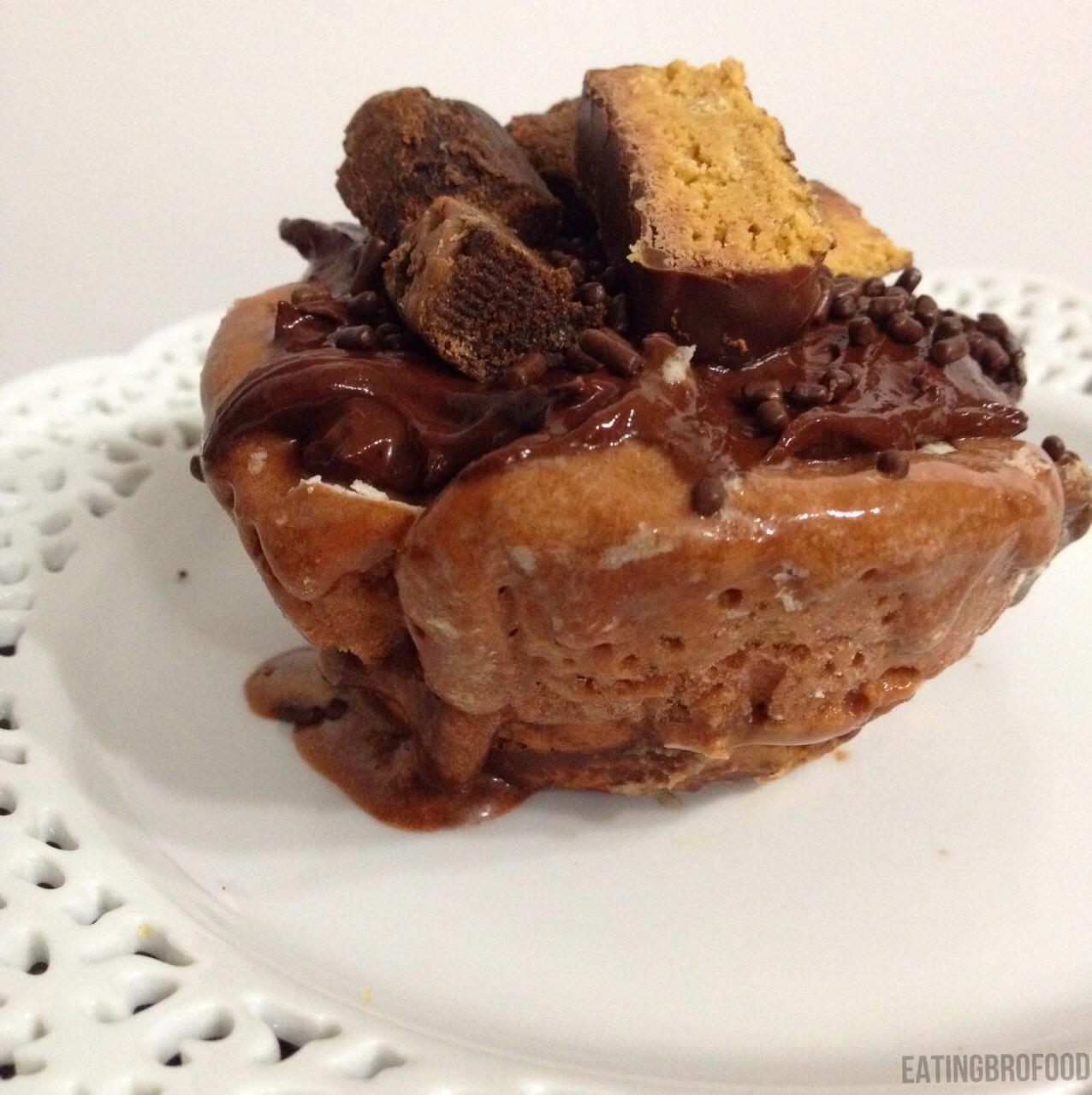 Chocolate Peanut Butter Powder Protein Cake