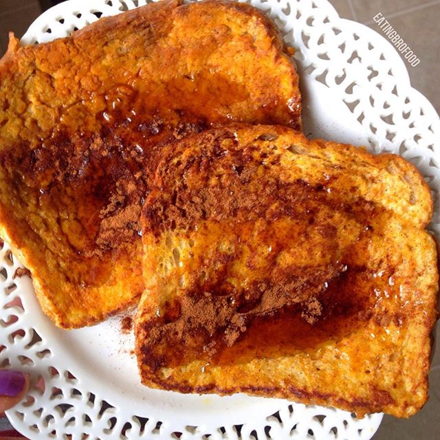 Skinny Pumpkin French Toast